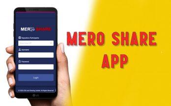 mero share app login page