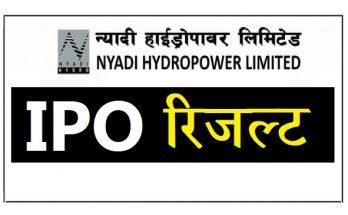nyadi hydropowwer ipo result page